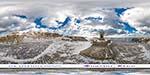 монастырский парк на Фиоленте зимой