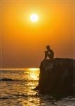 закат на пляже Каравелла