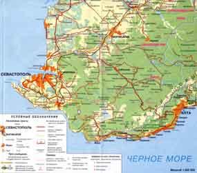 Каpта Кpыма: http://www.fiolent.ru/maps/